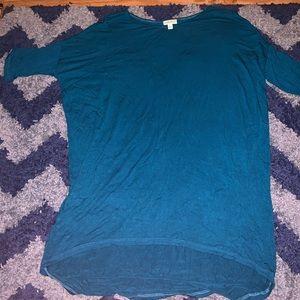LULAROE BLUE SHIRT DRESS